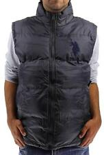 NEW US POLO ASSN MEN'S PREMIUM ATHLETIC PUFFER ZIP UP BIG PONY CHARCOAL VEST