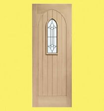 External Triple Glazed Oak Westminster Door with Black Caming. Various Sizes.