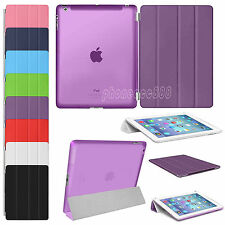 Luxury Slim Leather Magnetic Stand Smart Cover Back Case For Apple iPad 2  3 4