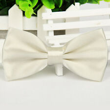 HKCFF UK 14 Colour Mens Pre Tied Wedding Party Fancy Plain Necktie Tie Bow Ties