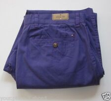 "Tommy Hilfiger Mens Light Weight Cotton Slim Fit ""Electric Purple"" Chino Pants"