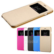 For iPhone 6 Plus MyJacket Leather Flip Smart View Wallet Hard Case Cover New CN