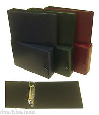 """GLEN"" 2 RING COLLECTORS BINDER / ALBUM - OPTIONAL COLOUR, SLIPCASE & SLEEVES"