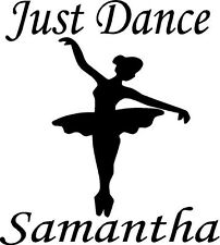 Just Dance with Personalized Name and ballerina vinyl decal/sticker window