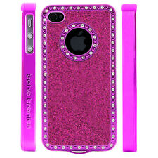 Gem Crystal Rhinestone Dark Pink Sparkling Glitter Case For Apple iPhone 5 5S 5G