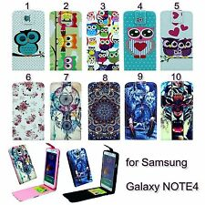 1pc Flip Magnetic PU Leather Vertical Case Cover For Samsung Galaxy Note 4 N9100