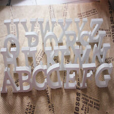 8X1.2cm (thick) Wood Wooden White Letters Alphabet Wedding  Birthday Home Decor