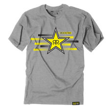 Factory Effex Rockstar Energy Streak Grey T-Shirt Tee Adult Mens Licensed NEW