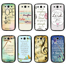 Philippians4:13 Bible Verse TPU Bumper Hard case For Samsung Galaxys3 s4 s5