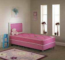 New! Childrens Bedroom Pink Blue Leather Bed Inc MATTRESS AND HEADBOARD BARGAIN!