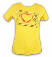 Womens NWT I Heart Browning Buckmark Love Classic Fit T-Shirt Yellow Any Size