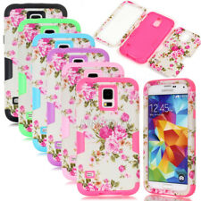 Peony Flower Dual Layer Hybrid Shockproof Matte Case For Samsung Galaxy Series