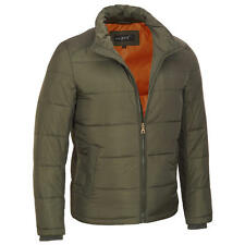 Black Rivet Mens Rib Knit Puffy Jacket