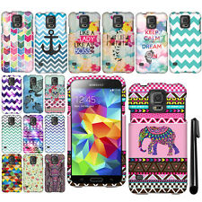 For Samsung Galaxy S5 G900 Rubberized HARD Protector Case Phone Cover + Pen