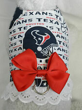 DOG CAT FERRET Harness~Houston NFL Team TEXANS Cheerleader RED Bow & Lace