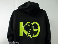 Bloodhound K-9 Hoodie, Printed Front & Back Choice of Hoodie Color and Prints