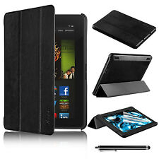 "New Sleep/Wake For Amazon Kindle Fire HDX 7 7"" inch PU Leather Stand Case Cover"