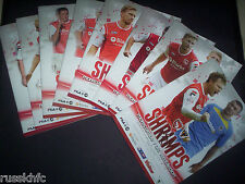 2013/14 - MORECAMBE HOME PROGRAMMES CHOOSE FROM (2014)