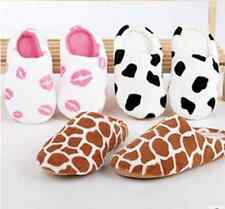 Men Women Lovers Cute Animal Cotton Soft Warm Slippers Winter Indoor Home Shoes