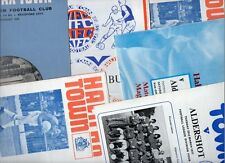 Halifax Town HOME programmes 1970s A-S FREE P&P UK Choose from list