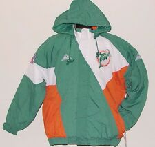 Vintage 90s Miami DOLPHINS Apex One JACKET NFL ProLINE BEND Back Patch NWT NOS