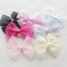 21PCS Organza Ribbon Bows Flowers DIY/Wedding/Applique Accessory supply