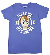 My Little Pony x Doctor Who Trust Me I'm A Dr Hooves Blue Adult T-Shirt