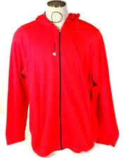 Reebok Signature Playdry Red Zip Front Hooded Track Jacket Hoodie Mens NWT