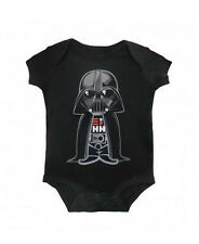 Star Wars Cute Darth Vader Baby Snapsuit Romper - Black