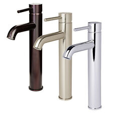 Euro Contemporary Bathroom Faucet Vessel Sink Vanity Lavatory & Popup Drain Set