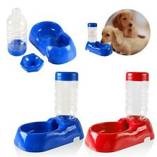 Pet Dog Cat Automatic Water Dispenser Fountain Waterer Food Dish Feeder Bowl