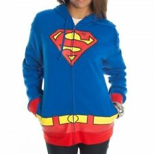 Women DC Comics Supergirl Superman Juniors Hoodie Sweatshirt Zip Jacket M L XL