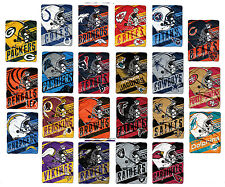 NFL Team Deep Slant Throw Blankets Pick your Favorite Team Free Shipping