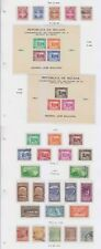 BOLIVIA 1940-50 SURFACE, AIRPOST & POSTAL TAX COLLECTION ON 11 PAGES SCV$127.25