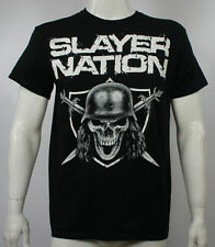 Authentic SLAYER Band Slayer Nation Skull And Crossed Blades T-Shirt S - 2XL NEW
