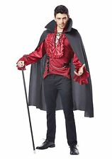 Dashing Vampire Halloween Costume Men Adult Dracula Cape Vest Gothic Victorian