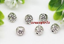30/60/100pcs Tibet Silver Jewelry Findings Charm Spacer Beads 6mm
