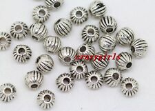 100/200/500pcs Tibet Silver Jewelry Findings Charm Spacer Beads 4mm