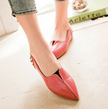 Sexy Women's Rivet Pointy Flats Shoes Pull On Casual Shoes Plus New