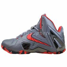 Nike Lebron XI Elite 11 Team Collection Grey Red James Mens Basketball Shoes