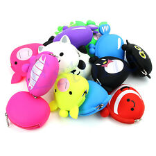 Women Lovely Animal Shape Cartoon Silicone Coin Purse Rubber Cosmetic Bag Wallet