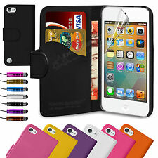 Book Flip Leather Wallet Case Cover For APPLE iPod Touch 5 5th Generation 5G