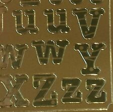 Gold  Alphabet 13mm Peel Off Stickers Craft  Upper Lower Case Letters 240G