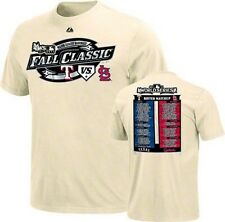 St Louis Cardinals vs Texas Rangers Youth 2011 World Series t-shirt Majestic new