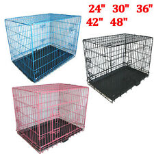 Metal Dog Cage Pet Puppy Training Crate Travel Carrier Kennel Small Medium Large