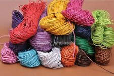 80M 1.5mm Waxed Coated Wax Cotton Cord String Linen Jewelry Bracelet Making
