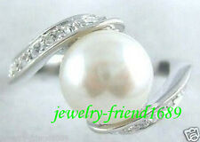 Jewelry white shell Pearl & Ring (size,7,8,9,10,11)