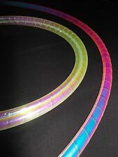 "Rainbow Dragon 36""/38"" Polypro Travel HULA HOOP + Iridescent Tape (Collapsible)"