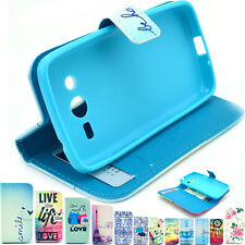 Folio Flip Leather Wallet Stand Case Cover For Samsung Galaxy Core 4G LTE G386F