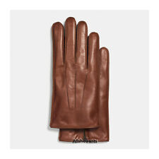NEW Genuine COACH Gloves for Men Fawn Basic Nappa Leather w/Cashmere MSRP $128